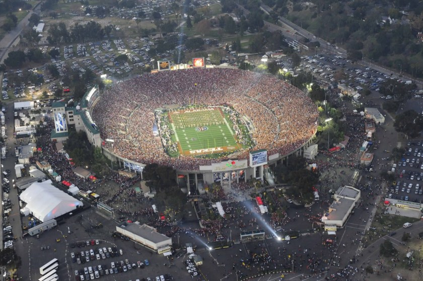 Rose Bowl Overhead BCS 2010