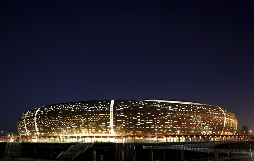A general view of Soccer City, also known as the FNB Stadium, in Johannesburg
