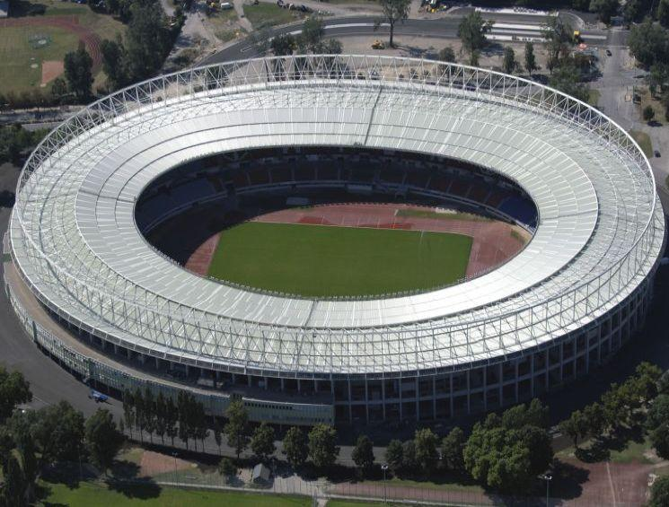 An aerial view of Vienna Ernst-Happel soccer stadium