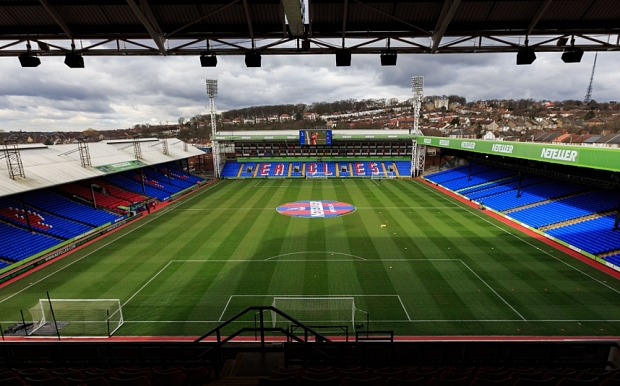 A general view of Selhurst Park, home of Crystal Palace before the Barclays Premier League match at Selhurst Park, London. PRESS ASSOCIATION Photo. Picture date: Saturday February 21, 2015. See PA story SOCCER Palace. Photo credit should read: John Walton/PA Wire. RESTRICTIONS: Editorial use only. Maximum 45 images during a match. No video emulation or promotion as 'live'. No use in games, competitions, merchandise, betting or single club/player services. No use with unofficial audio, video, data, fixtures or club/league logos.