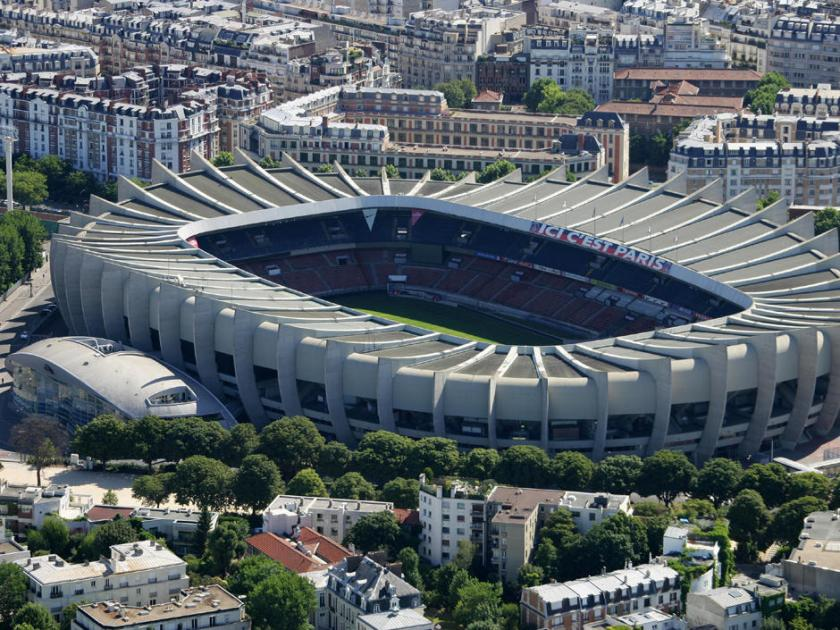 Stade du Parc des Princes, de l'equipe de football du Paris Saint Germain. Ligue 1 sport