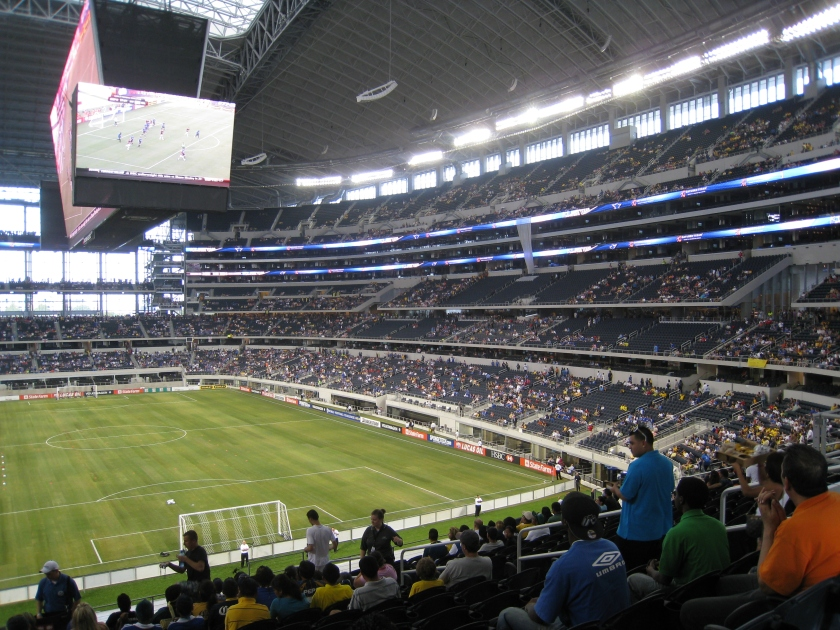 Cowboys Stadium Inside During a Soccer Match